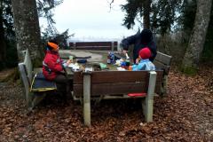 Picknick Steinerner Tisch